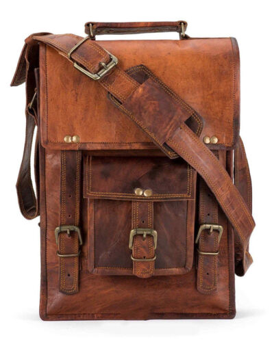 Men/'s  New Small Vintage Leather Messenger Shoulder Satchel S School Sling Bag