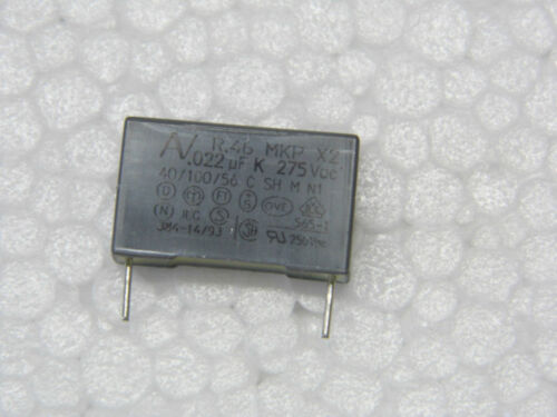 Lot de 10 condo condensateur 275v AC 0.022µF 22nF 10/% MKP X2V R46KI22200001K