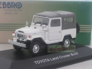 1/43 EBBRO Toyota Land Cruiser BJ40 White Diecast