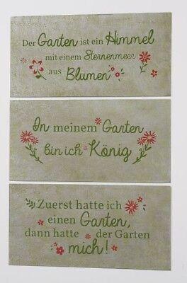 Metall Schild Zum Thema Garten 40x20cm Wandtafel Geschenk Spruche