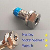 M10 X 1.5 X 20 Titanium Ti Screw Bolt Socket Cap Hexagon Hex Flange Head +blue