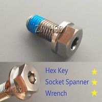 M10 X 1.25 X 20 Titanium Ti Screw Bolt Socket Cap Hexagon Hex Flange Head +blue