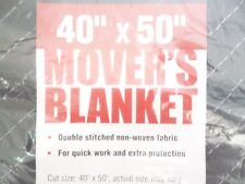 x 50 in 2-Pack Moving Blanket Double Stitched Non-Woven Fabric New 40 in