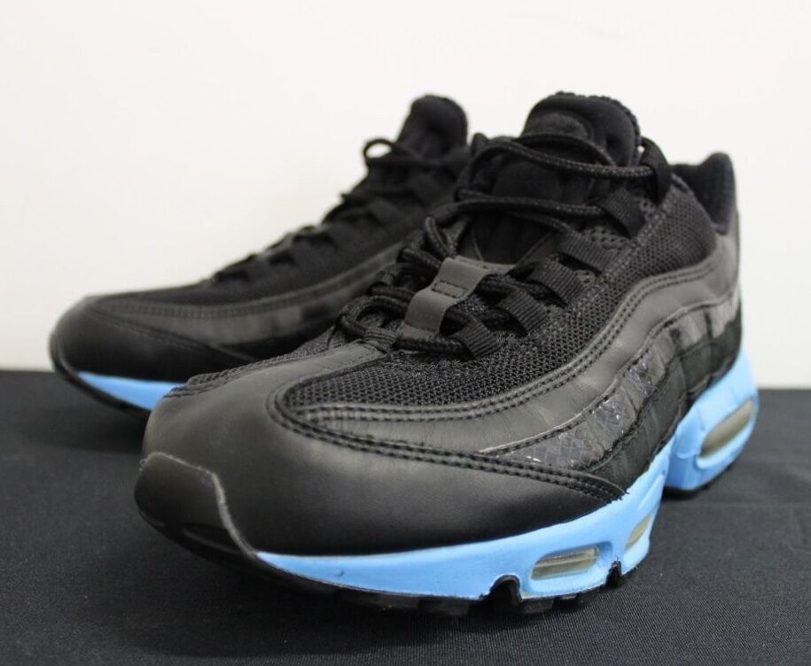 Nike Air Max 95 Black Sky Blue Sneakers Men's Comfortable Comfortable and good-looking