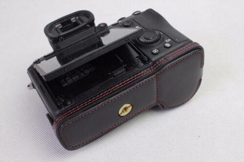 La mitad de cuero caso bolsa de Agarre Para Sony a7R Mark 7RM3 A 7 RIII Cámara cámara de lentes intercambiables con III e-mount