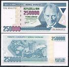 TURQUIA 250000 LIRAS AÑO 1970/1998 Pick # 211 SC UNC