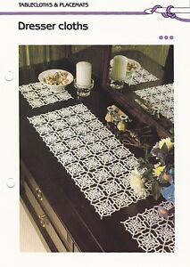 Image Is Loading Crochet Pattern Dresser Cloths Runner Doily Instructions