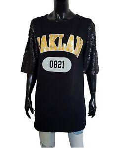 84752c1976 T shirt donna lunga vestitino cotone long shirt oversize con ...