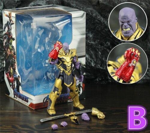"Marvel Avengers 4 Endgame 8/"" Thanos 2019 Movie 20cm Action Figure Infinity Gaunt"