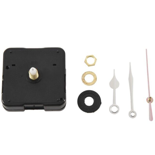 Mouvement Mecanisme D'horloge A Quartz Aiguille Noir Rouge DIY I2H3 n3u