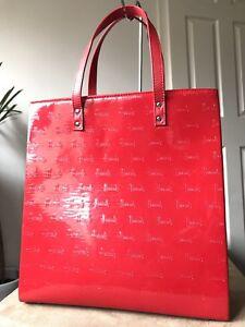 Medium Harrods Patent Large Handbag Tote Red EqP7qwrfZ