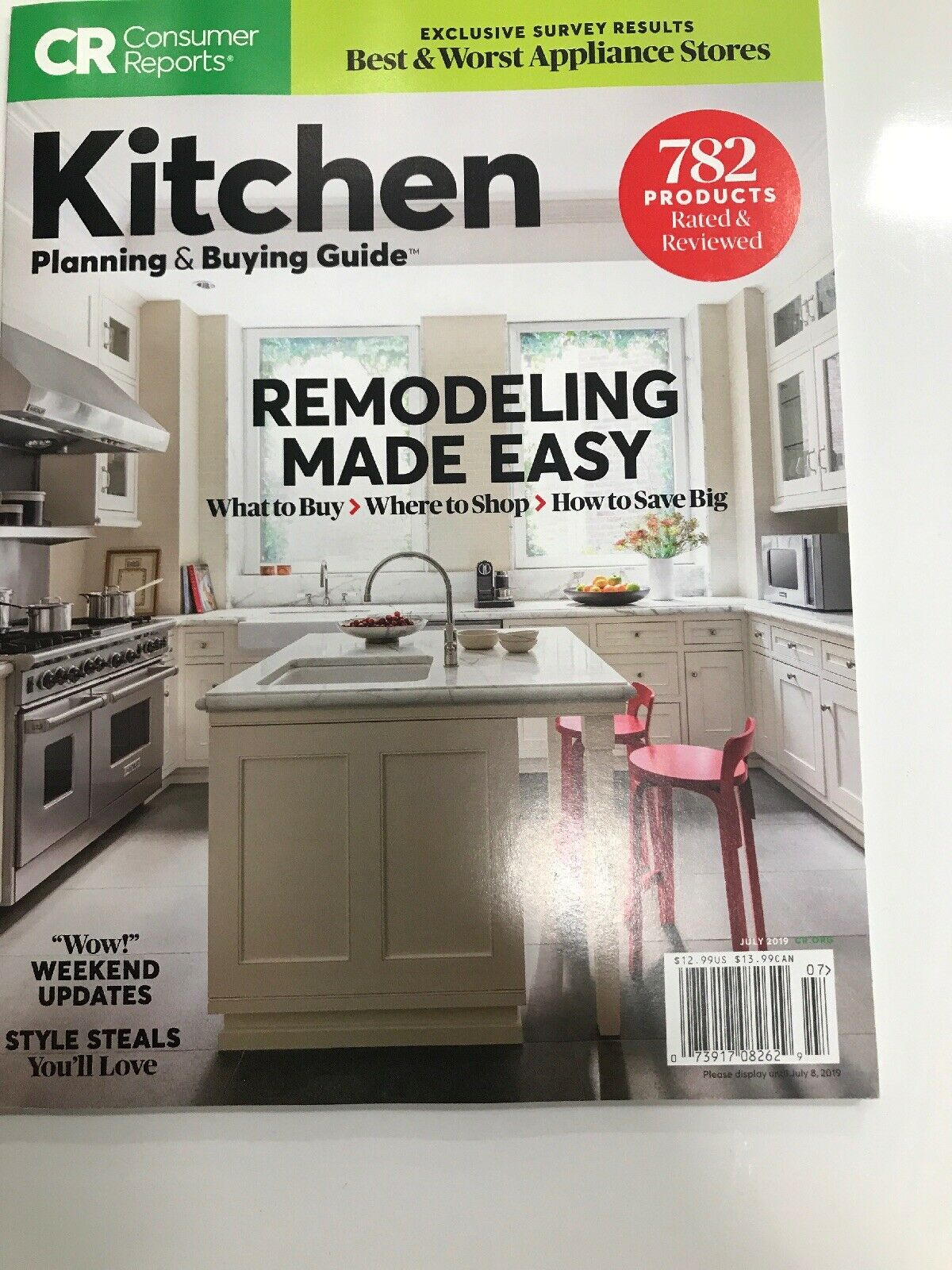 Consumer Reports Magazine July 2019 Remodeling Kitchen Planning and Buying  Guide
