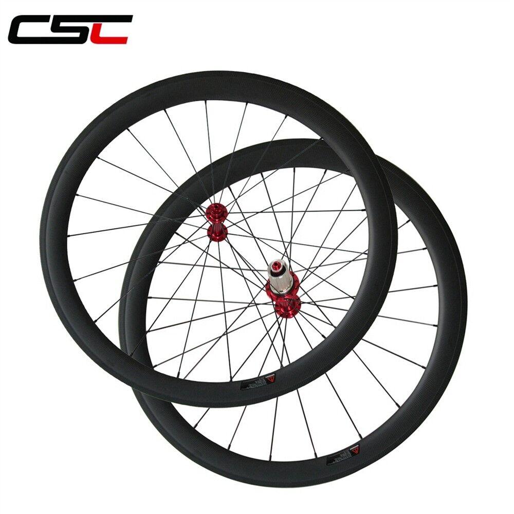 CSC Ceramic Bearing Hubs 50mm Tubular Carbon bike  wheelset  the most fashionable