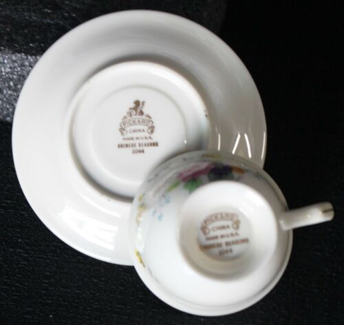 Pickard Chinese Seasons Demitasse Footed Cup//Saucer Set; Mint Condition Have 10