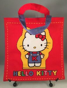 826df5fe6f39 RARE Vintage 1976 Sanrio Mini Hello Kitty Cloth Tote Bag Purse Japan ...