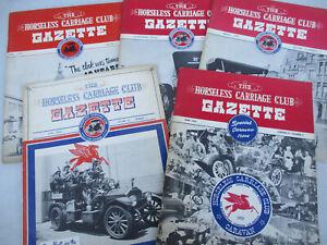Antique Car Lot Horseless Carriage Club Gazette Vintage Automobile History 1949