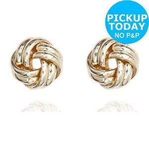 725c3e859 Anne Klein Gold Colour Double Knot Stud Earrings 13742081442 | eBay