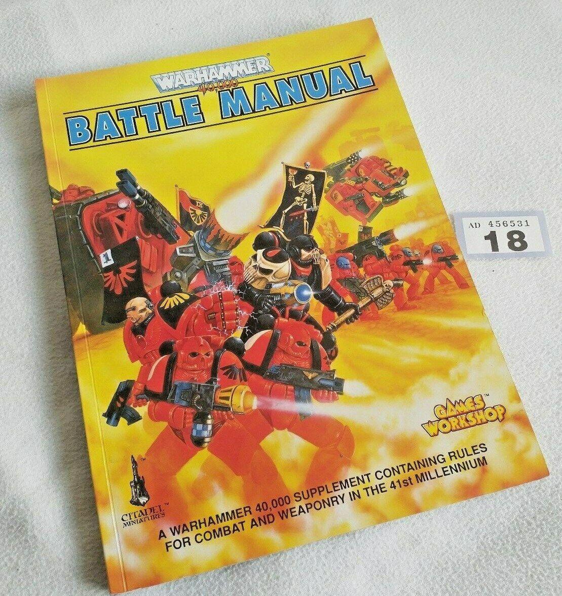 Warhammer 40,000 ROGUE TRADER Battle Manual RARE OOP WH40K 40K (018)