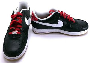 Nike Shoes Air Force 1 Low Premium Black White Red Sneakers Size 10 ... e4f2d5716