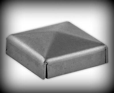 2 Stück Pfosten Abdeckung roh 100 x 100 mm für Zaun Pfosten Profil 100 x 100 mm