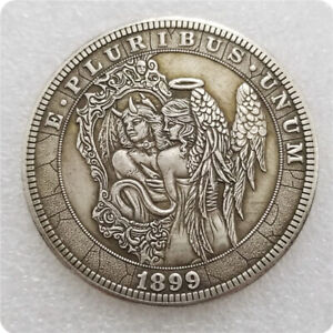 1899-Devil-Angel-US-Foreign-Currency-Coin-Commemorative-Morgan-Silver-Collection
