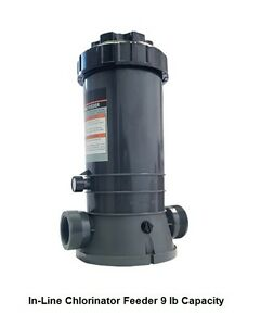 Details about IN-LINE SWIMMING POOL CHLORINATOR CHEMICAL FEEDER DISPENSER 9  lb CAPACITY