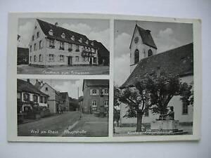 AK-Weil-am-Rhein-1940-Gasthaus-Hauptstrasse-Kirche