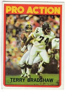 1972-Topps-Football-card-120-Terry-Bradshaw-Pro-Action-Pittsburgh-Steelers-EX