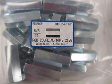 25 Hex Rod Couplings 58 11 Threaded Nut Connectors Zinc