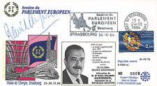 "FDC European Parliament ""Raul Ricardo ALFONSIN Argentina"" SIGNED AUTOGRAPH, 1984"