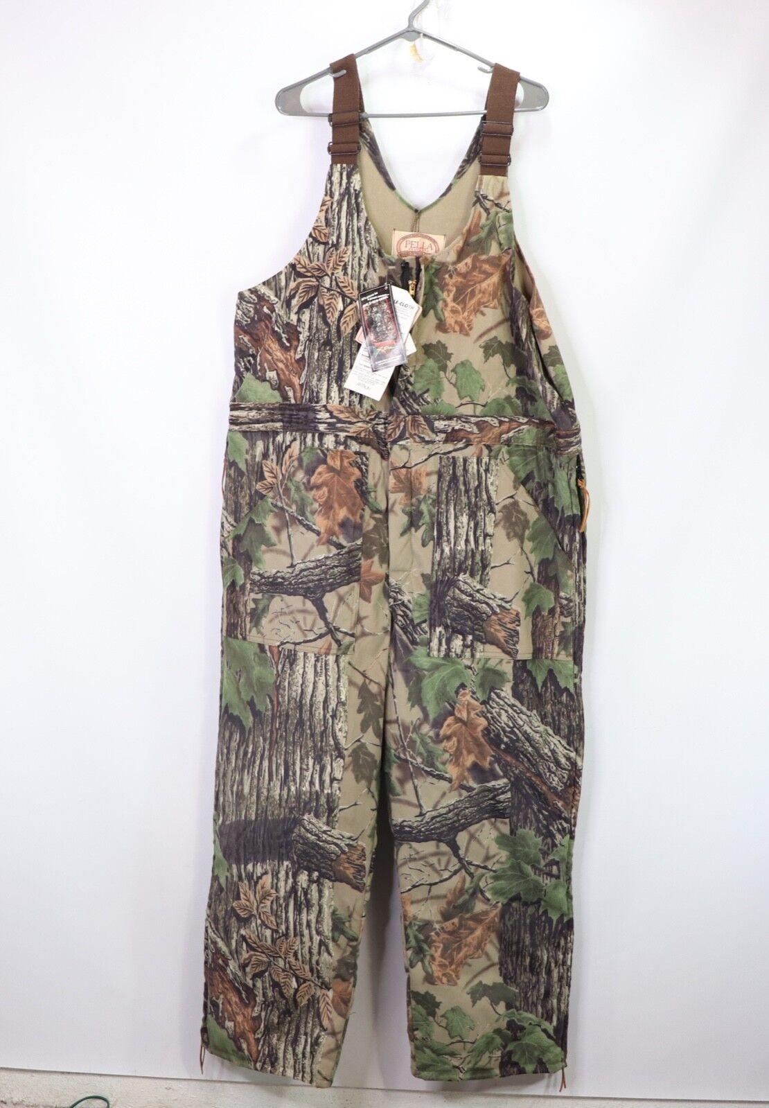 Vintage 90s New Pella Mens Large Saddlecloth Realtree Xtra Insulated Hunting Bib