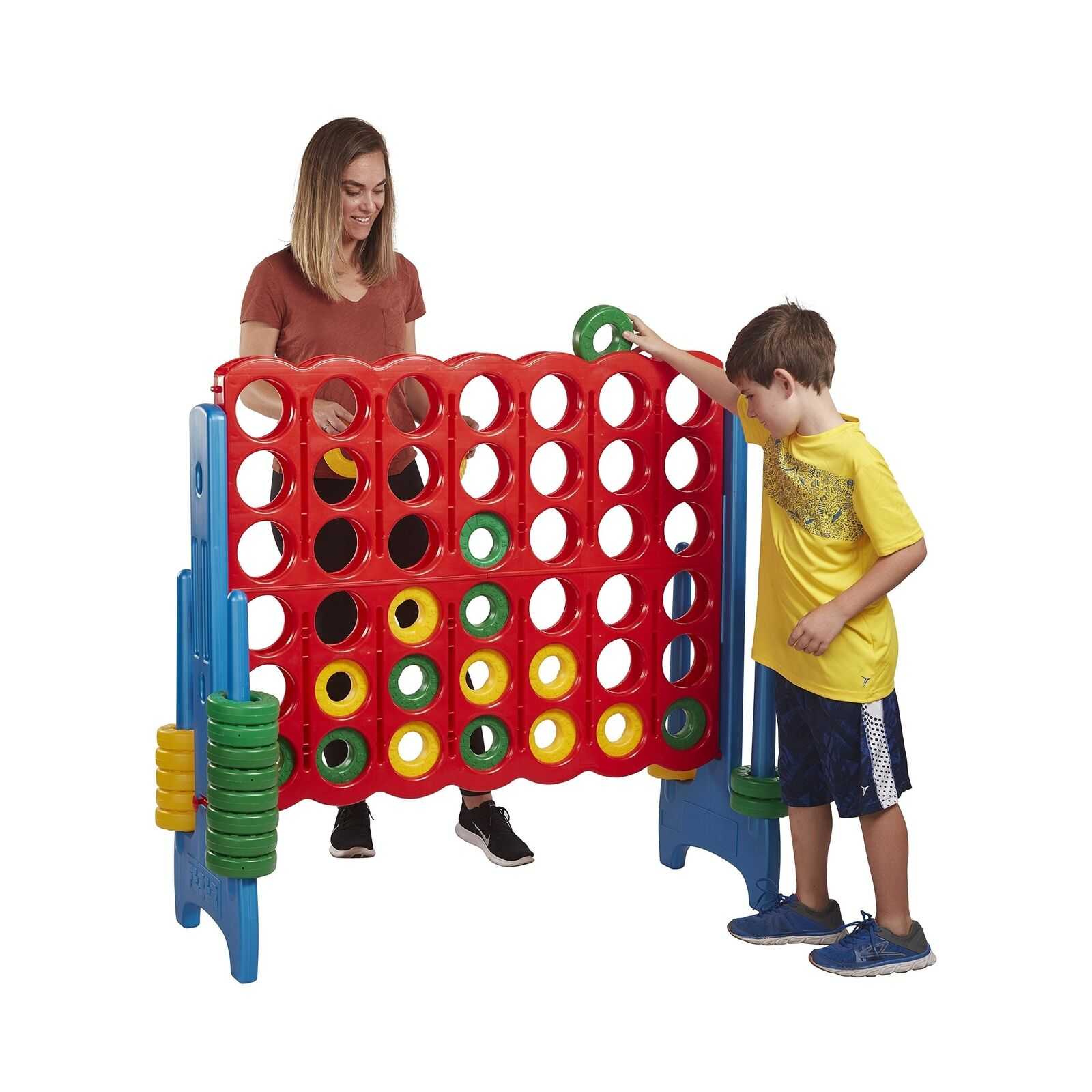 Jumbo 4-To-Score Game Set - Giant Größed Fun for Kids and Adults - 4 Feet Tall