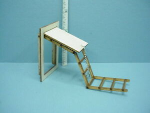Miniature Folding Attic Stairs Am2299hst 1 2 1 24 Scale