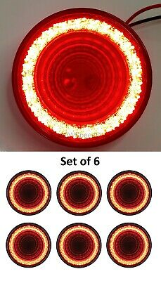 "RED LED//RED LENS 24 LED 6/"" OVAL /""MIRAGE/"" STOP,TURN /& TAIL LIGHT"