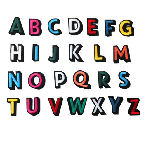 Crafts Sew on patch Applique Badge Alphabet Letters Iron on Patches