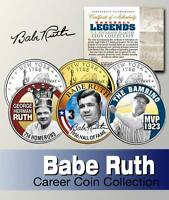 Babe Ruth Career Hof Ny State Quarter 3-coin Set