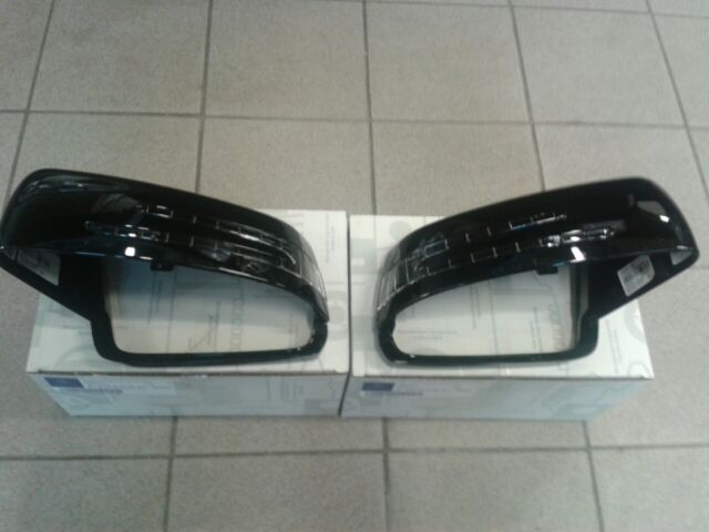 Mirror Housing Covers Exterior Black High Gloss Sports Mercedes C Class s204