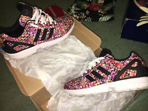904e2459819c2 Image is loading Adidas-ZX-Flux-Multi-Color-Prism-Size-11-