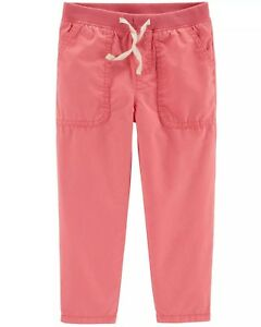 Carter/'s Infant Girls/' Pink Pull-on Pants with Heart Shaped Back Pockets NWT