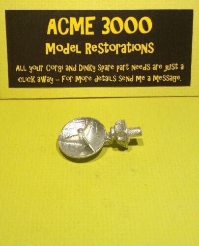 Dinky 988 ABC reproducción de sala de control REPRO-Antena Parabólica De Metal Blanco