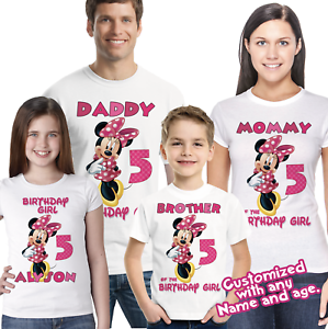 Image Is Loading Minnie Mouse Birthday Shirt Family