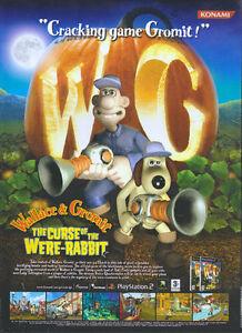 Wallace Gromit The Curse Of The Were Rabbit 2005 Magazine Advert 4759 Ebay