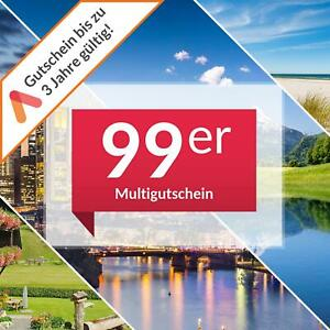 Multi Hotel Gutschein 3 Tage Kurzurlaub 2 Personen über 100 Hotels Animod 99er