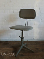 """GIRO GREY"" Arbeits Dreh Stuhl Industrie Design Vintage Steel Work Chair Bar"
