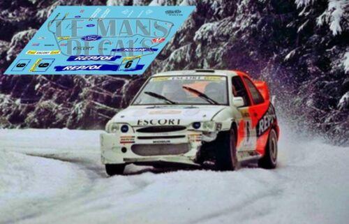 Calcas Ford Escort WRC Rallye Montecarlo 1997 5 6 decals Sainz Schwarz