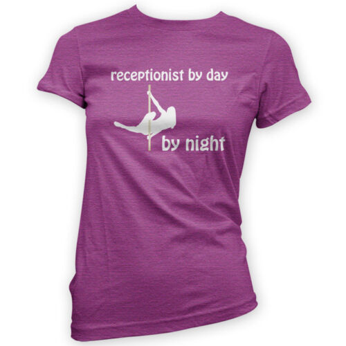 Receptionist by Day Pole Dancer by Night Womens T-Shirt Aerial Gym x14 Colours