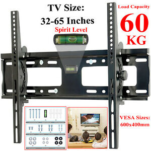 TV-Wall-Bracket-Mount-Tilt-For-3D-Plasma-LCD-LED-32-35-40-42-50-52-55-60-65-Inch