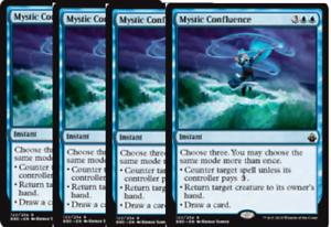 4x Mystic Confluence 4 NM Battlebond MTG Magic pack fresh, get a free BONUS FOIL