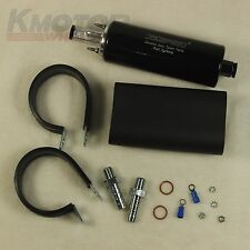 Black High Performance Fuel Pump Inline Honda Civic CRX Integra NSX B16 255LPH