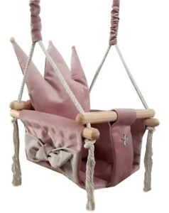 Baby Swing Swings Chair Child Wood Swing Chair Crown Toy Toys Baby Swing